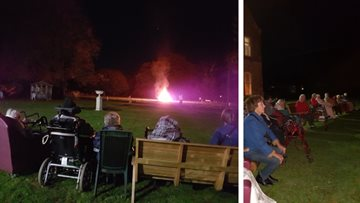 Bonfire night at Evercreech care home
